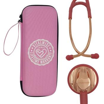 VITALWISE Heart Shaped Rose Gold and Soothing Pink 28 Inch